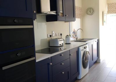 Navy Kitchen in Holiday Home