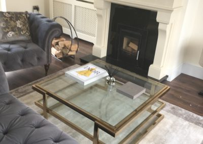 Antique Brass Square Coffee Table