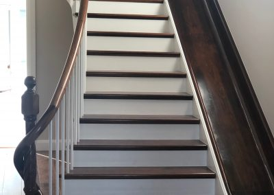 Walnut Stair case with slide